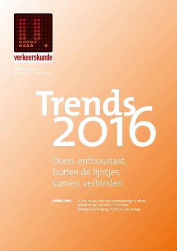 - Verkeerskunde Trends 2016